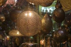 Lamps in  Arab marketsn Royalty Free Stock Photos