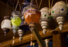 Lamps. Arabian souvenirs - collection of an old lamps Royalty Free Stock Photos