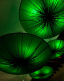 Lamps as green lotus form Royalty Free Stock Photography