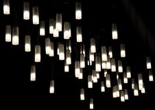 Lamps. Beautiful lamps suspended from the ceiling Royalty Free Stock Photos