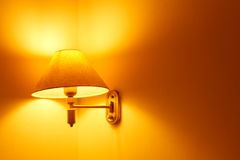 Lamps in the bedroom Stock Image