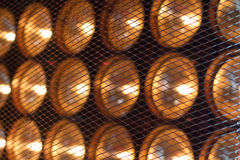 Lamps behind grid Royalty Free Stock Photography
