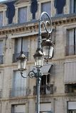 Lamps of Beziers. Taken in the Southern area of France, Europe, in Beziers. shows the detail of the street lamps in the town Stock Image
