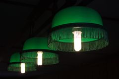 Lamps for billiards royalty free stock images