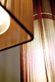 Lamps with Brown Shades. Close up of two hanging lamps with brown shades Royalty Free Stock Images