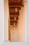 Lamps and ceiling in temple Stock Photos