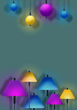 Lamps - Club   bar spotlight background design Stock Image
