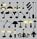 Lamps collection 2 Stock Photography