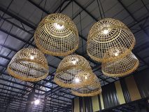 Lamps - colorful design illuminated background royalty free stock photo
