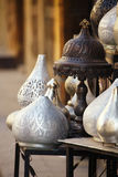 Lamps, crafts, souvenirs  in street shop in cairo, egypt Stock Images