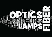 Lamps For Fiber Optics Text Background Word Cloud Concept Stock Photo