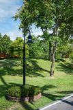 Lamps in the garden. Lamp outdoor park public lighting royalty free stock photos