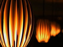 Lamps. Hanging lamps with ambient light Royalty Free Stock Photo