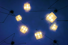 Lamps hanging from ceiling Royalty Free Stock Photo