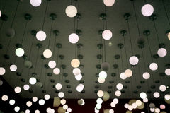 Lamps hanging on the ceiling. Stock Photography