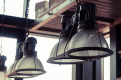 Lamps hanging on the wall Royalty Free Stock Photos
