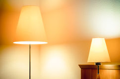 Lamps in the hotel room Stock Photography
