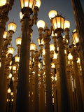 Lamps installation LACMA Royalty Free Stock Photos