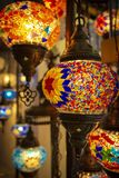 Lamps for the interior. Different lamps for the interior in oriental style stock photos