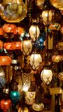 Lamps of Istanbul Stock Photography