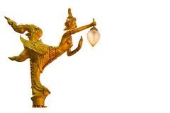 Lamps of a Kinnari Thai style. Lamps of a Kinnari Thai style Stock Photos