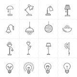 Lamps and lighting devices vector illustration