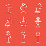 Lamps and lighting devices Royalty Free Stock Images