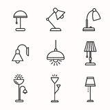 Lamps and lighting devices Stock Photo