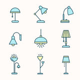 Lamps and lighting devices Royalty Free Stock Image