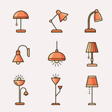 Lamps and lighting devices Stock Photography
