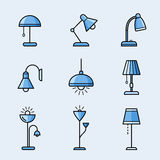 Lamps and lighting devices Royalty Free Stock Photo