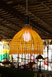 Lamps made ​​of bamboo Stock Images
