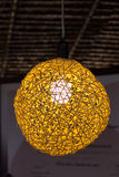 Lamps made ​​of bamboo Stock Photo