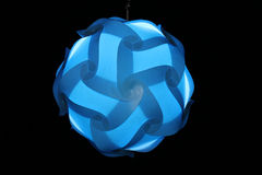 Lamps made of blue plastic Stock Photography