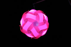 Lamps made plastic Pink Stock Image