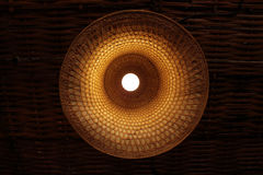 Lamps made of woven hats ideas Royalty Free Stock Image