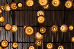 Lamps made of woven hats ideas Royalty Free Stock Photos