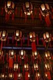 Lamps at the Man Mo Temple in Hong Kong Stock Photography