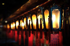 Lamps at Man Mo Temple, Sheung Wan, Hong Kong Royalty Free Stock Images