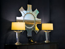 Lamps with mirror Stock Photo