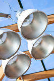 Lamps in modern glass cieling Stock Image
