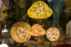 Lamps of Murano glass. Glass souvenirs' shop in Murano, Venice's island Stock Photography