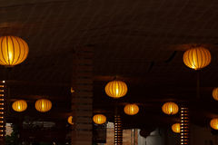 Lamps at night Stock Photo