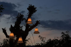 Lamps at night Royalty Free Stock Photography