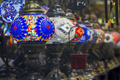 Lamps. Queue of Ceiling lamps hung arabes Stock Photos