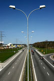 Lamps at ringroad. View at lamps in the middle of ringroad Royalty Free Stock Photos