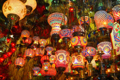 Lamps on sale in bazaar Stock Photography