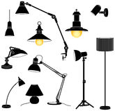 Lamps set Stock Photos