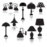 Lamps set icons  - Illustration Royalty Free Stock Photography