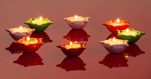 Lamps Signifying the Hindu Festival of Diwali. Pretty Lamps Signifying the Hindu Festival of Diwali